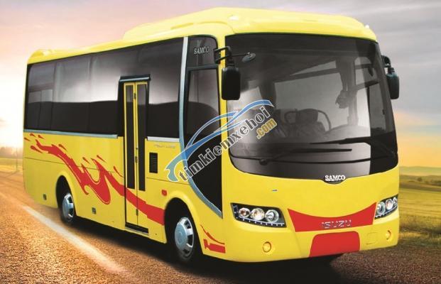 Bán Samco Isuzu 29 và 34 chỗ đời 2016, màu vàng, xe giao ngay