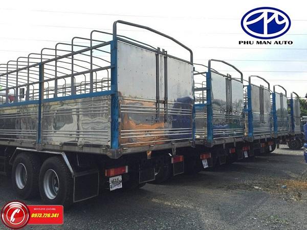 Xe tải 4 chân Dongfeng Hoàng Huy tải trọng 17t9.