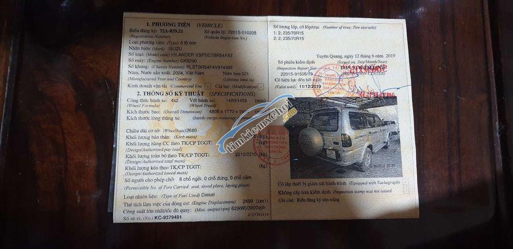 Bán Isuzu Hi lander đời 2004, xe gia đình