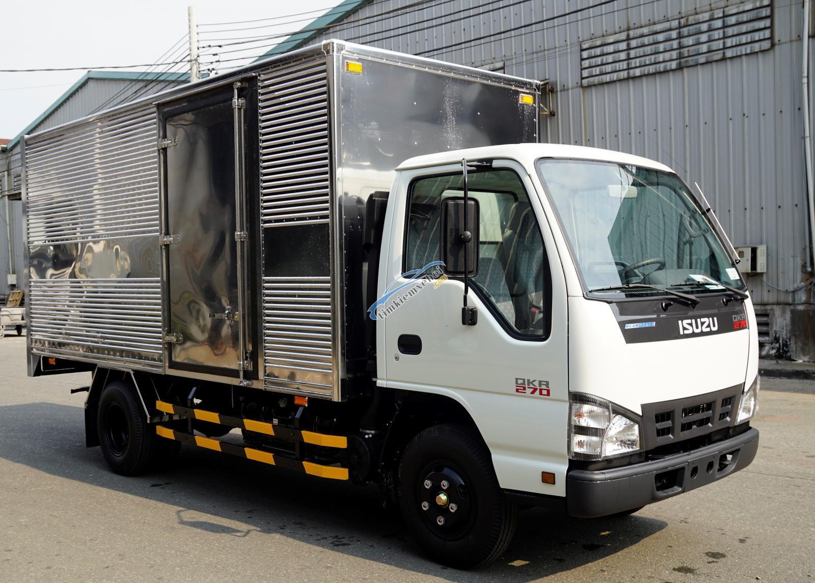 Tải Isuzu 3T thùng 4m3 giá tốt, vay cao, đóng thùng theo yêu cầu khách hàng