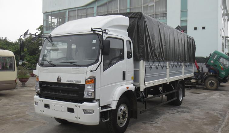 xe tải howo 7t5 đời 2017 thùng 6m2 giá rẻ trong 8