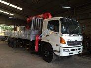 Xe tải Hino 3 chân gắn cẩu Unic 5 tấn. Bán xe tải Hino gắn cẩu giá 2 tỷ 250 tr tại Hà Nội