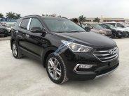 Bán Hyundai Santa Fe 2.2, máy dầu 2018, màu đen giao ngay giá 1 tỷ 68 tr tại Hà Nội