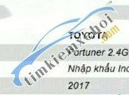 Cần bán gấp Toyota Fortuner năm 2017 chính chủ, giá tốt giá 1 tỷ 120 tr tại Tây Ninh