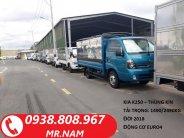 Cần bán xe tải Kia Bongo K250 thùng mui bạt đời 2018, xe mới 100%. Hỗ trợ vay ngân hàng. Liên hệ 0938808967 (gặp Nam) giá 389 triệu tại Tp.HCM