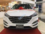 Bán Hyundai Tucson xăng đặc biệt màu trắng, khuyến mãi 100% thuế trước bạ giá 845 triệu tại Tp.HCM