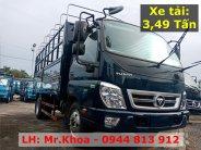 Xe tải 3T5 Thaco Ollin 350.E4 - Thùng mui bạt mở 5 bửng dài 4m3 - Trả trước 25% giá 354 triệu tại Tp.HCM