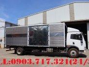 Công ty bán xe tải Faw 8350Kg thùng kín dài 8m, cửa hông mở rộng 2m giá 835 triệu tại Long An
